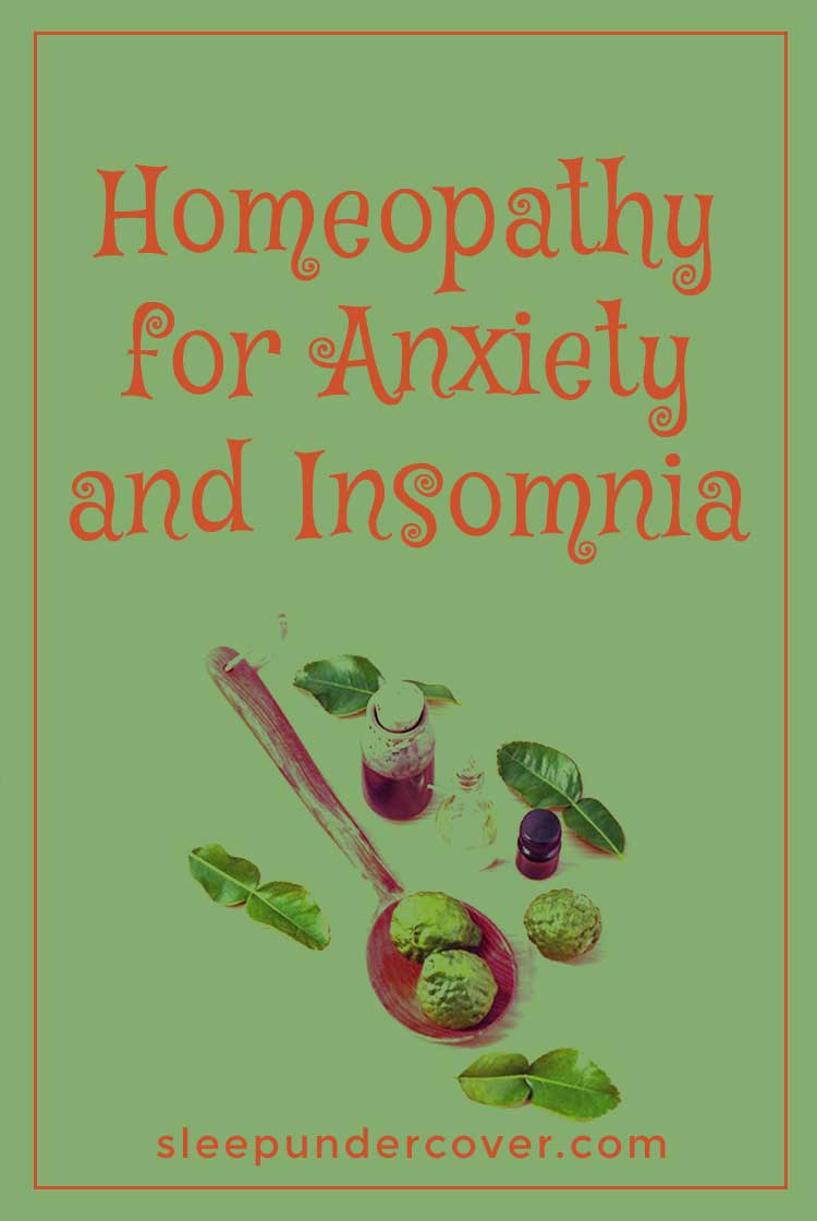 - HOMEOPATHY FOR ANXIETY AND INSOMNIA - While some people do need to take medication for anxiety and should be seen by a doctor, other people can be sufficiently cared for by using natural remedies for anxiety and insomnia.