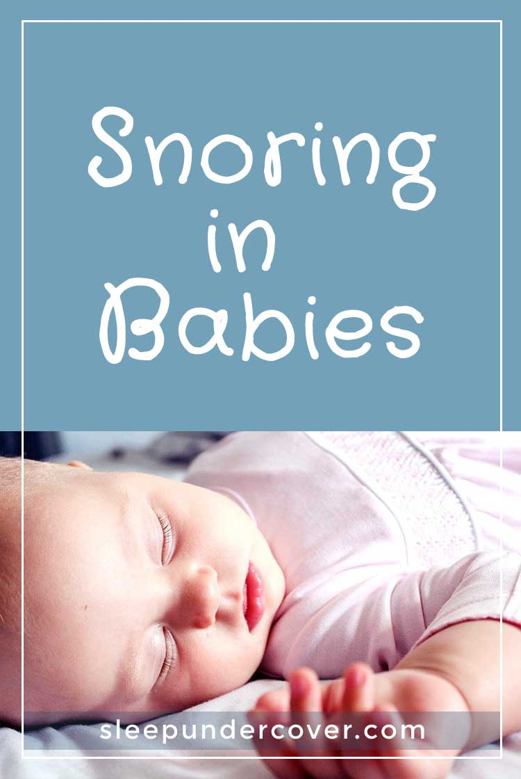 - SNORING IN BABIES - While many children will snore on occasion due to a stuffy nose, cold, allergies, or other reasons, chronic snoring in babies is not considered to be typical.
