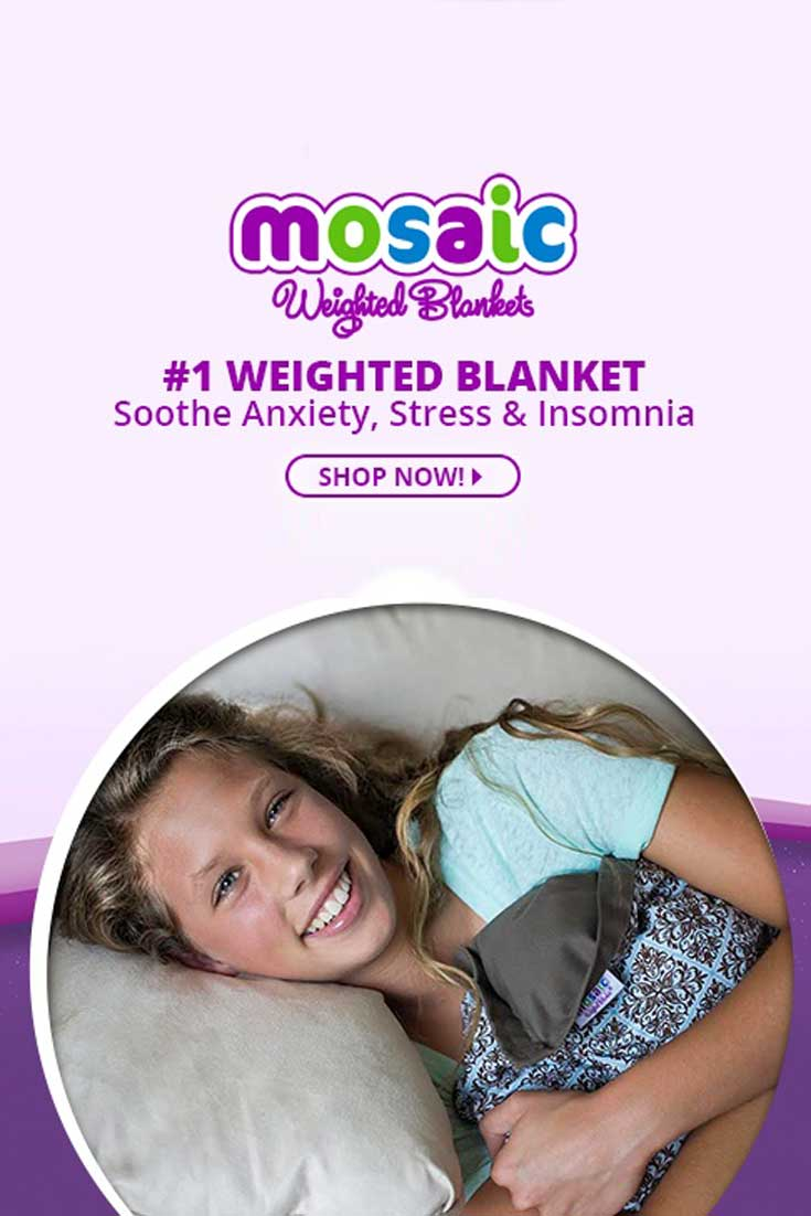 - MOSAIC WEIGHTED BLANKET - We'll take a look at what Mosaic weighted blankets have to offer and find how they might provide benefits to your life.
